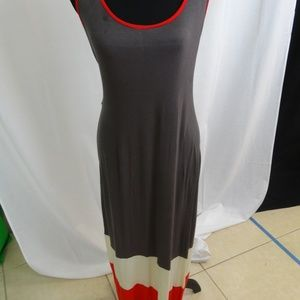 Stand out! Long Color block Coverup Dress